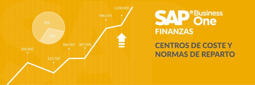 ¿Sabes cómo funcionan los centros de coste y normas de reparto en SAP Business One?