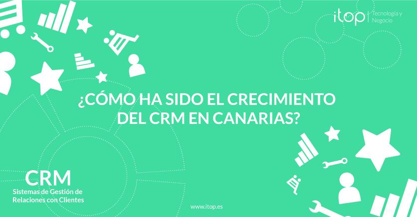 ¿Cómo ha sido el crecimiento del CRM (Sistema de Gestión de Relaciones con Clientes) en Canarias?