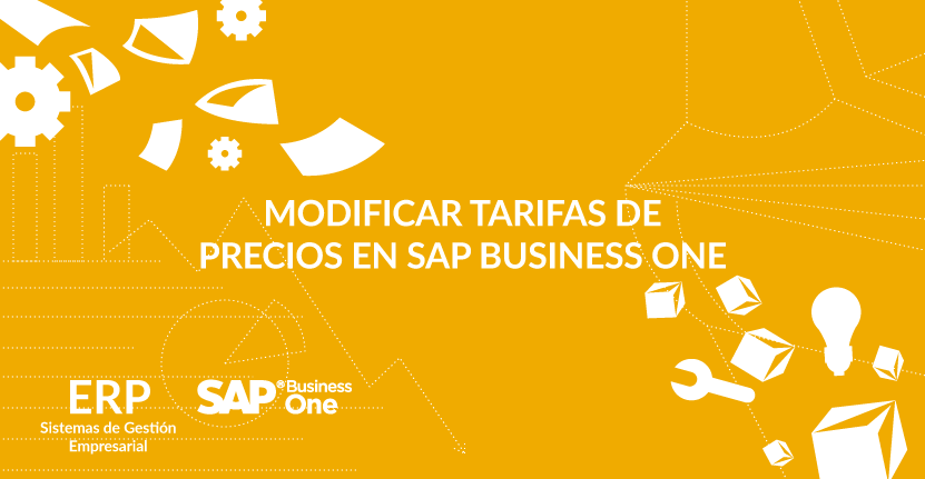 Modificar tarifas de precios en SAP Business One