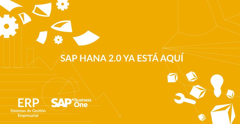 SAP HANA 2.0 ya está aquí