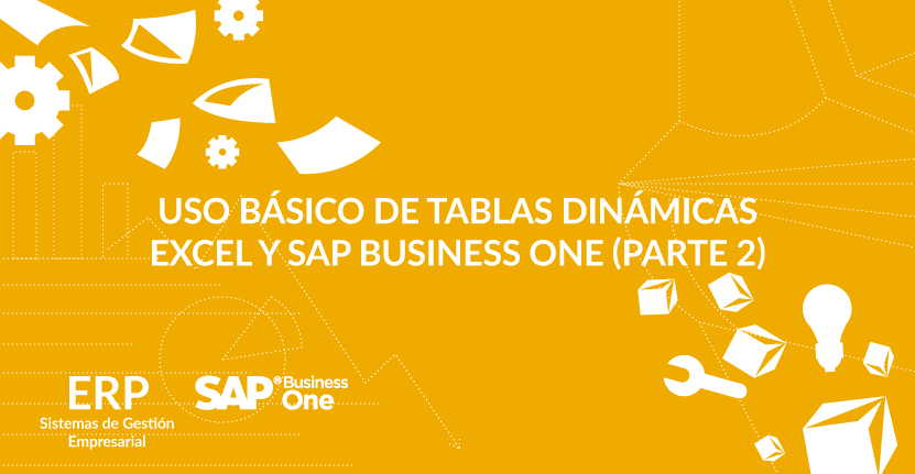 Uso básico de tablas dinámicas Excel y SAP Business One (Parte 2)