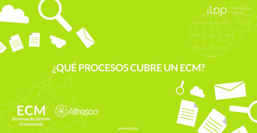 ¿Qué procesos cubre un ECM?